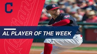 See why Kluber was named AL's Player of the Week