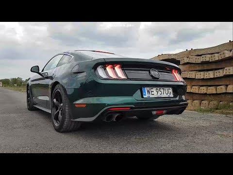 Ford Mustang Bullitt 5.0 V8 460 sound, exhaust sound, start up sound, revs, interio sound