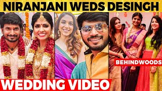 🔴VIDEO: Niranjani & Desingh Wedding-ல் இணைந்த Cook With Comali Team | VJ Rakshan, Pavi