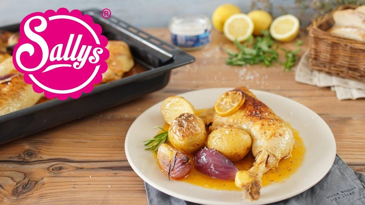Zitronenhuhn Hähnchenschenkel Aus Dem Ofen Mit Superleckerer