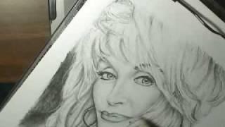 Teddy Wayne Smith Blog: Dolly Parton Drawing part 4 11-15-08