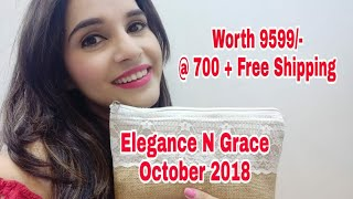 Elegance N Grace October 2018 | Unboxing + Review | Offers | GIVEAWAY Open |