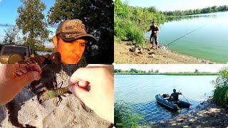 Чудесные выходные ч 1 рыбалка на озере с ночевкой в палатке поймал рака исследование дна эхолотом