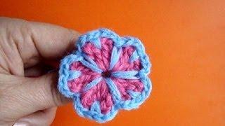 Вязаные крючком цветы Урок 14 Crochet flower motive(Подписаться на все новые видео-уроки по емайл: http://feedburner.google.com/fb/a/mailverify?uri=knittingforbeginners/video ..., 2013-02-26T19:05:54.000Z)