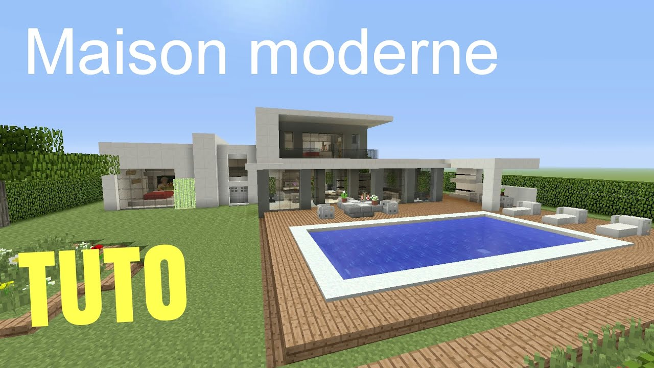 Tuto minecraft maison moderne 1 ps4 ps3 xbox360 xboxone for Plan maison minecraft moderne