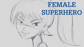 Learn to How to Draw a Female Superhero
