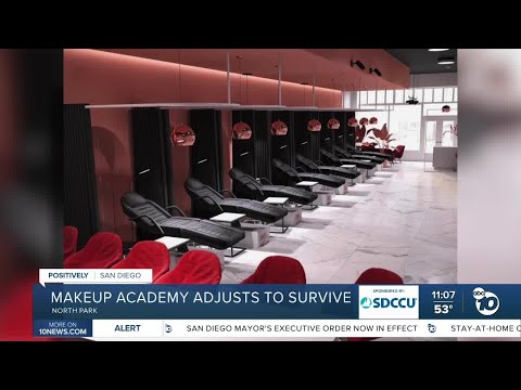 Make-up academy shifts business model to survive pandemic