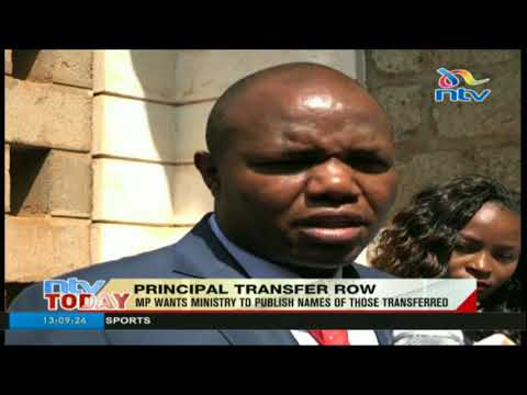 Yatta MP wants Ministry of Education to publish names of principals transferred