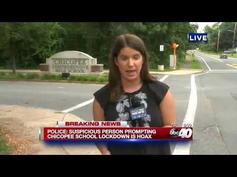 Chicopee Comprehensive High School lockdown 6pm