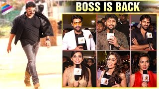#BossIsBack | Celebs about Megastar Chiranjeevi Re Entry | Bruce Lee The Fighter Premiere Show