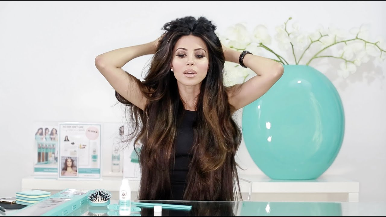 Leyla Milani 24 Length 200 Grams Clip In Hair Extensions Tutorial
