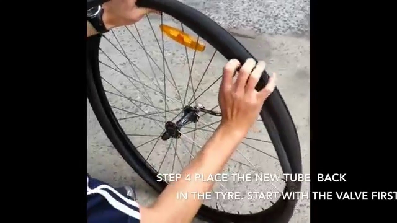 b9797473129 7 EASY STEPS HOW TO CHANGE REPLACE A ROAD BIKE TYRE INNER TUBE bicycle tire
