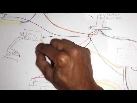 Rakit Kabel Bodi / Body Simple Motor Rx King Rx S Rx K, Lampu DC Skema Gambar, Pengapian Tetap AC