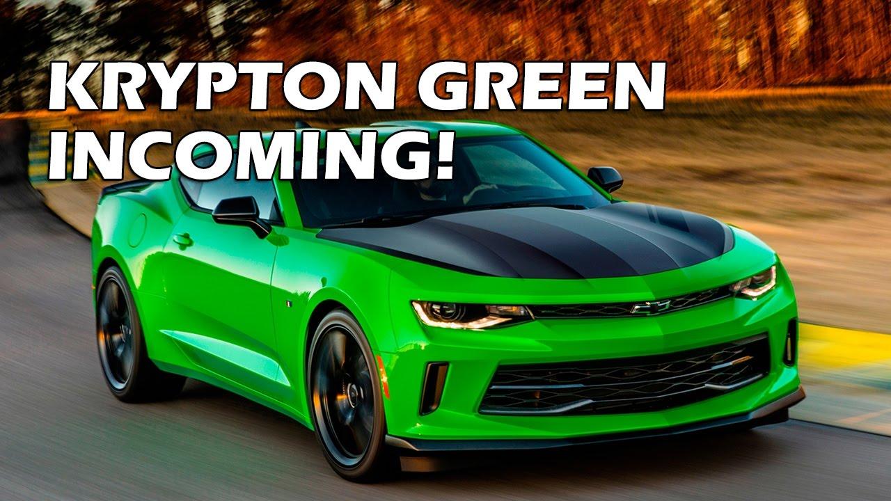 2017 Camaro Krypton Green 1LE - YouTube
