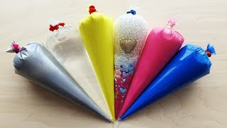 Making slime with piping bags - Crunchy Fluffy