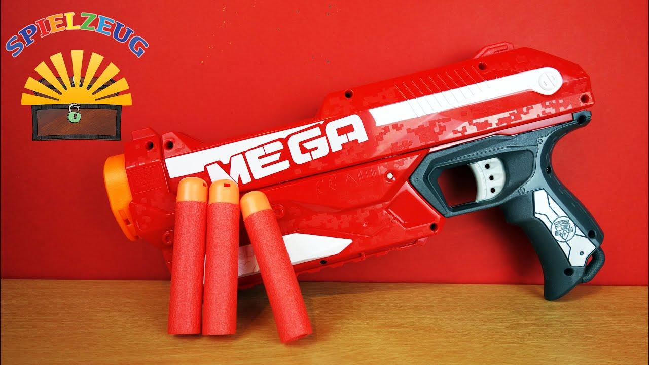 c6ace33f732 Hasbro - Nerf N-Strike Elite Mega Magnus A4887E24 Darts Pfeile schießen  Blaster auspacken