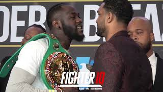 WORDS EXCHANGE IN FACEOFF! DEONTAY WILDER VS DOMINIC BREAZEALE FINAL PRESS CONFERENCE