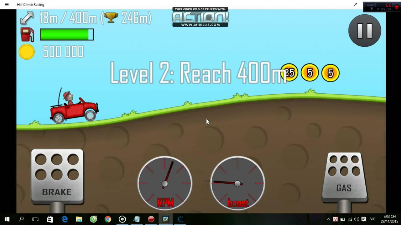 Hướng dẫn hack tiền game hill climb racing !!!