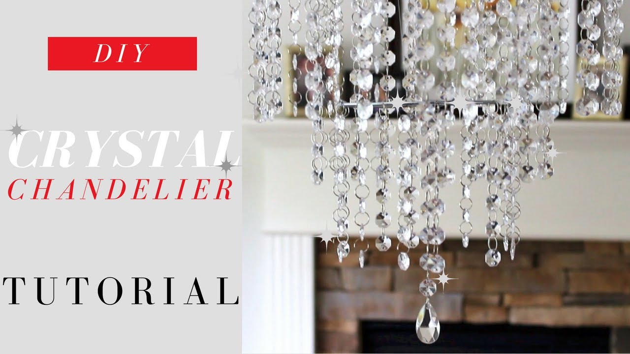 Diy crystal chandelier tutorial elegance for only 20 youtube diy crystal chandelier tutorial elegance for only 20 aloadofball Images