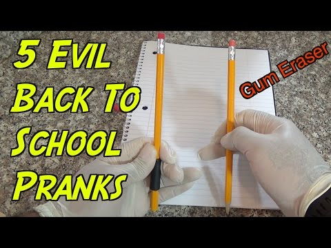 5 Evil Back To School Pranks You Can Do –  HOW TO PRANK (Evil Booby Traps)