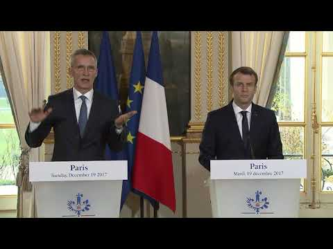 NATO Secretary General with the President of France, 19 DEC 2017