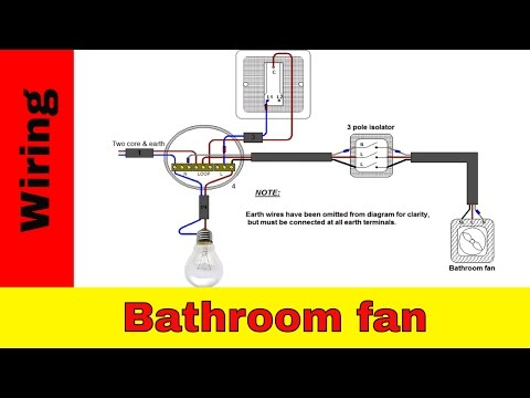 How to wire bathroom fan UK.