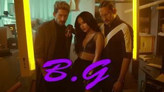 Mau y Ricky - Mi Mala (Remix) LETRA + GOOD English Translation FT. Karol G , Becky G, Leslie, Lali