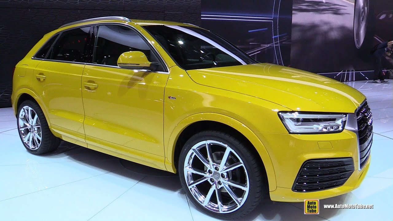 2016 audi q3 tfsi quattro s line exterior and interior walkaround 2015 detroit auto show. Black Bedroom Furniture Sets. Home Design Ideas