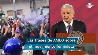 """""""No tienen ni siquiera por qué encapucharse, no somos represores. Nosotros somos humanistas"""", dijo entre otras cosas el presidente Andrés Manuel López Obrador"""