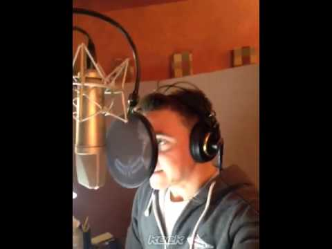Jesse McCartney recording Roxas battle sounds for HD 1.5 ReMIX, footage in background