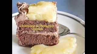 Chocolate &  Pineapple  Gateau
