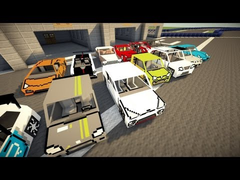 Minecraft Flans mod - Too many cars!