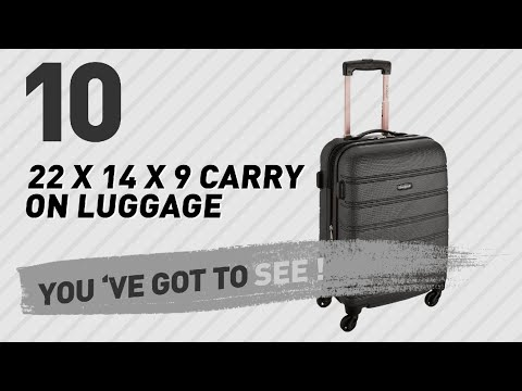 22 X 14 X 9 Carry On Luggage New Popular 2017 Youtube