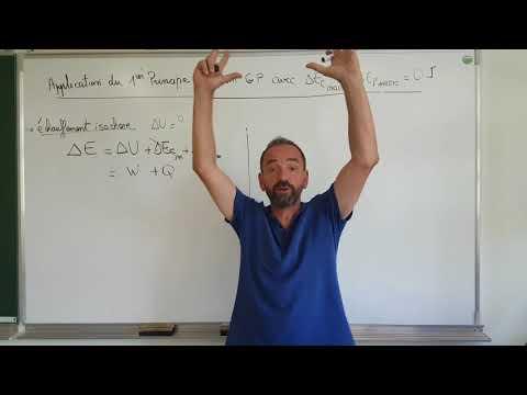thermo, premier principe / III-5 variation d'énergie interne, échauffement isochore
