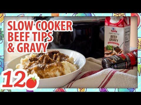 How To Make: Slow Cooker Beef Tips & Gravy