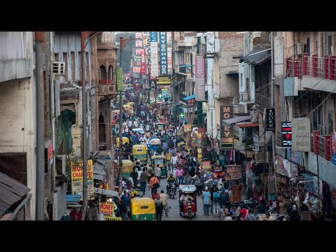 Walking in Paharganj New Delhi - India [4K]