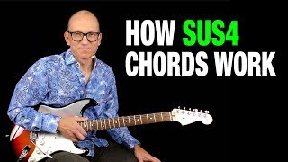 How SUS4 Chords Work - key of A