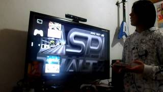 Jogando PSP na tela da tv