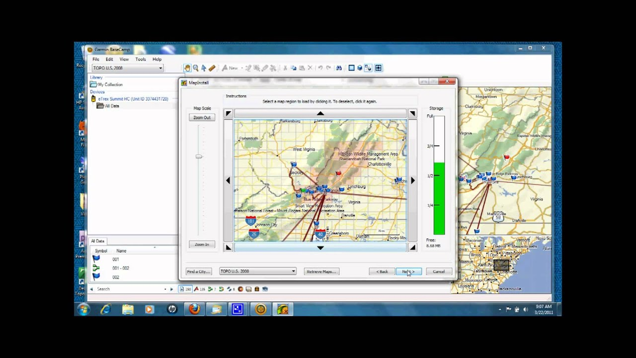 Transferring maps and data to Garmin GPS units - YouTube