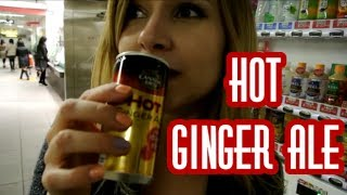 HOT Japanese Vending Machines: Hot Ginger Ale!! ホット飲み物自販機好きー♥