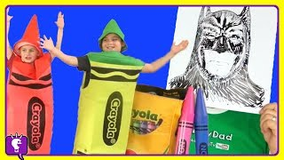 GIANT CRAYOLA Surprise Egg ADVENTURE! COMPILATION of Paint and Play Coloring with HobbyKids