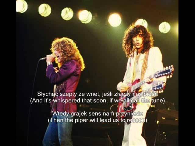 Led Zeppelin: Stairway To Heaven / Schody do nieba - translation / tłumaczenie PL