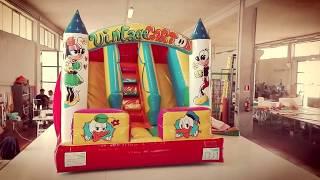 GLISSIÈRE GONFLABLE, 4 X 4 H 3 ''VINTAGE CARTOON'' SEULEMENT www.playhousegonfiabili.it