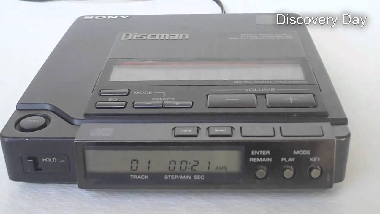 Sony D-555 Discman CD Player Demonstration - YouTube  Sony D-555 Disc...