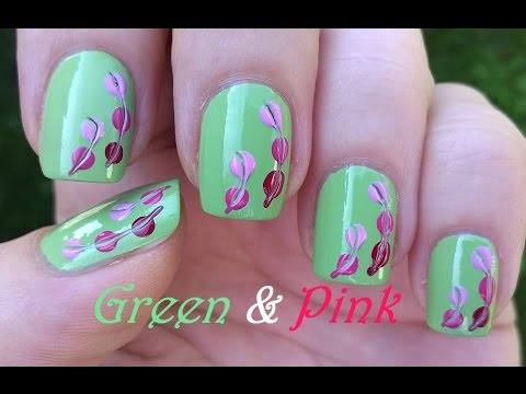 Green pink nail art super easy pastel nails by using toothpick green pink nail art super easy pastel nails by using toothpick dotting tool prinsesfo Gallery
