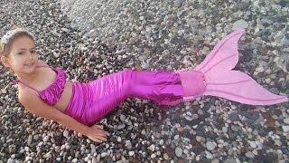 Elif Deniz Kızı oldu, sonunda deniz kızı kuyruğumuza kavuştuk, kuyrukla yüzmek zor, mermaid