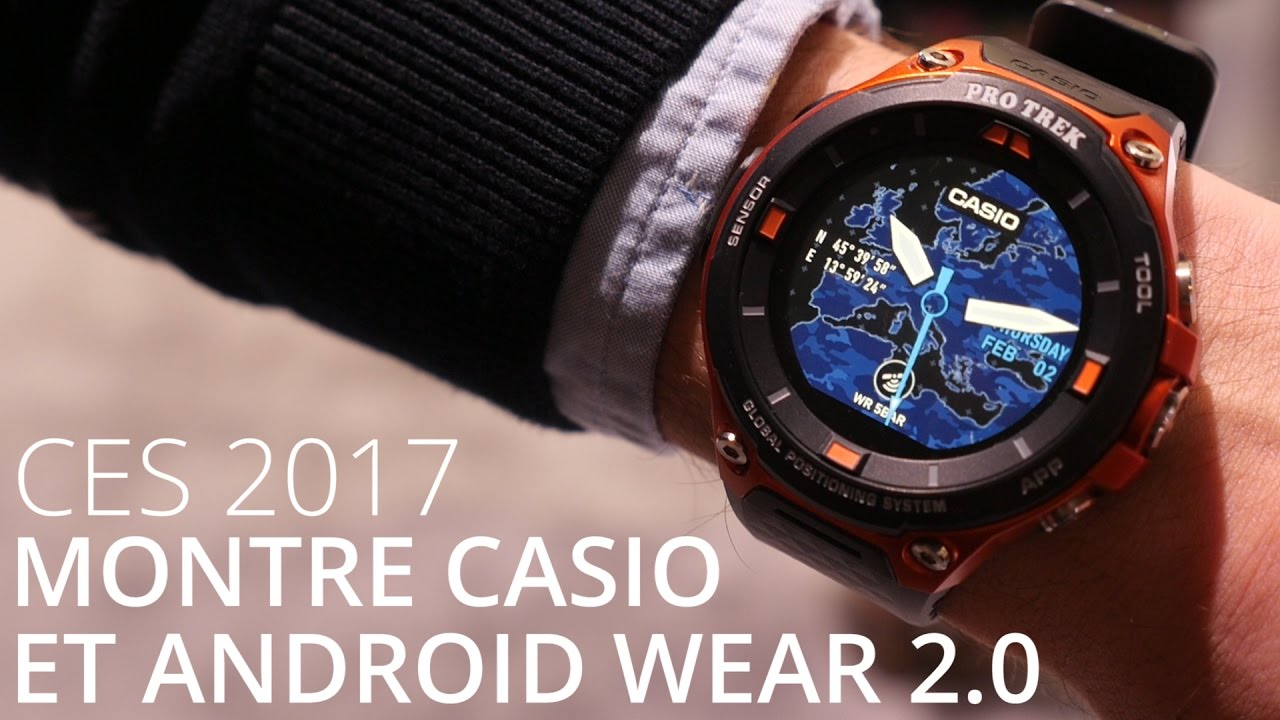 la nouvelle montre connect e casio sous android wear 2 0 casio smart outdoor watch youtube. Black Bedroom Furniture Sets. Home Design Ideas
