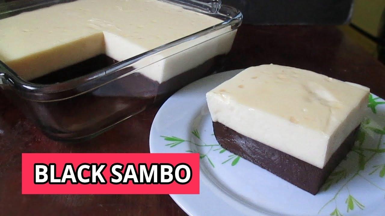 Black Sambo Recipe How To Make Black Sambo 2 Layered Jelly Youtube