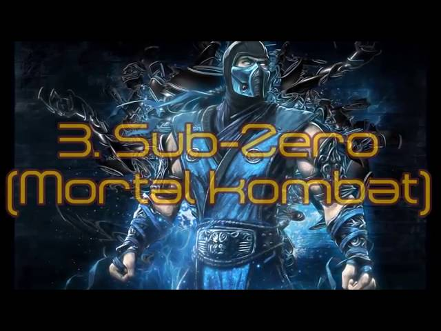 Top 5 Personajes mas famosos en juegos de pelea Mortal Kombat
