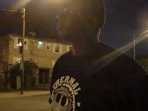 Kev Lawrence in  Cabrini Green projects in Chicago, IL. realizing gentrification/ eminent domain